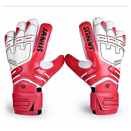 038d10e5c Generic JANUS Professional Goalkeeper Gloves With Finger Protection Thickened  Latex Soccer Goalie Gloves Football Goal keeper Gloves