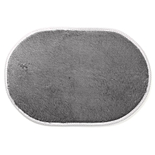 1Pcs 40*60CM Bathroom Carpets Absorbent Soft Memory Foam Doormat Floor Rugs Oval Non-slip Bath Mats Grey