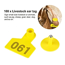 1-100 Number Plastic Livestock Ear Tag Animal Tag For Goat Sheep Pig