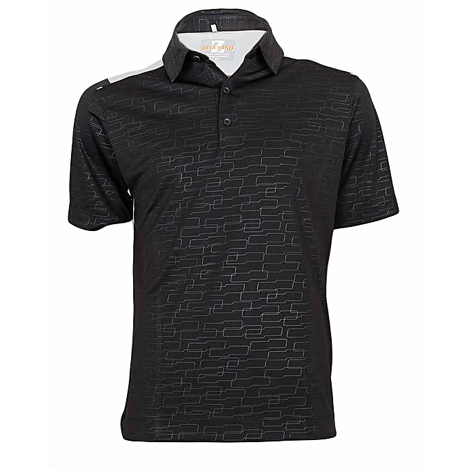 Black Light Grey Polo T-Shirt