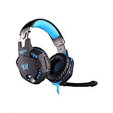 G2100 - Gaming Headset Vibration Function With Hidden Mic - Blue+White