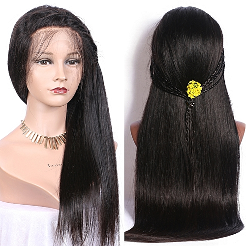 379cd38f4 Generic Indian Straight Lace Frontal Human Hair Wigs - Natural Color ...