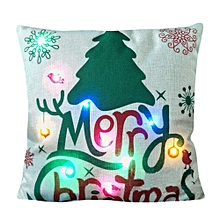 The New Color Lights Christmas Pillow LED Lights Pillow Creative Printing LinenH