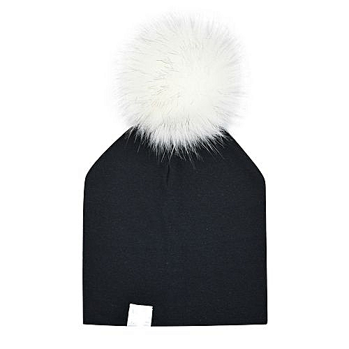 Eissely Newborn Infant Baby Winter Print Warm Faux Fur Ball Hat Beanie Cap 6be5b29e9a9