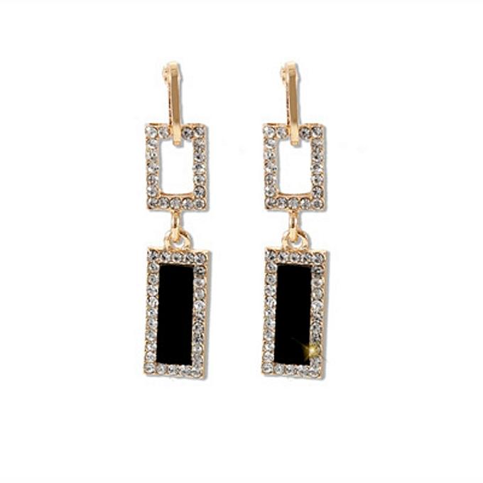 d372b07c094af6 Rhinestone Earrings Fashion Long Drop Earrings for Women Party Metal Hanging  EarringJewelry