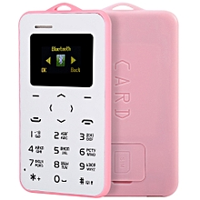 C6 1.0 Inch Pocket Card Phone Russian Keyboard GSM Bluetooth 2.0 Calendar Alarm - Pink