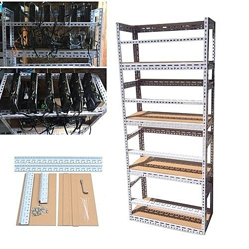 Buy Universal 4 Layers Diy Steel Bitcoin Mining Rig Open Air Frame