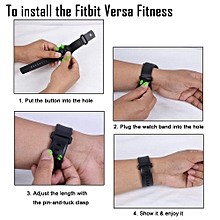 SDQB-007 Watch Band Silicone Replacement Watch Strap with Shock Proof Protective Case for Fitbit Versa Smart Watch