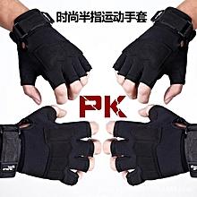 Black Mens Breathable Tactical Half Finger Gloves Fitness Gloves Slip Resistant Mittens Camouflage