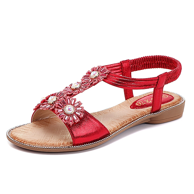 5e2d7a5942c Fashion Bohemian Flowers T Strap Casual Comfortable Sandals   Best ...