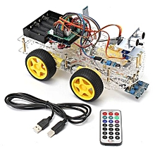 4WD Smart Car Robot Starter Kit - Programmable Robot For Arduino (Style One)