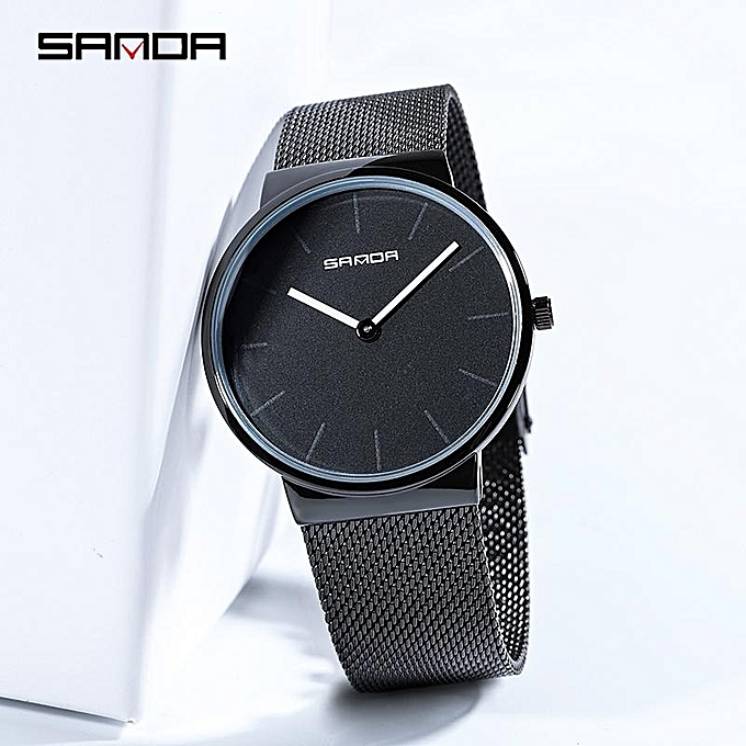 Quartz Watch Mens Stainless Steel Mesh Band Watches Mens Top Brand Fashion Bracelet Analog Wrist Watches Relogio Moderate Price Watches Digital Watches