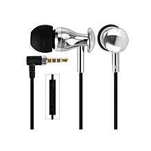 MJ9600 - Earphones In Ear Headset MIC - Silver [XX]