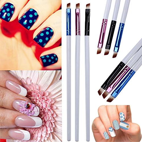 Buy Zlime 3pcs Uv Gel Acrylic Nail Art Brush Set Art Builder