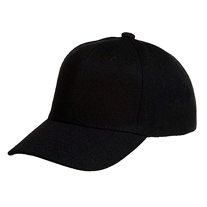 Tough quality black unisex baseball Cap