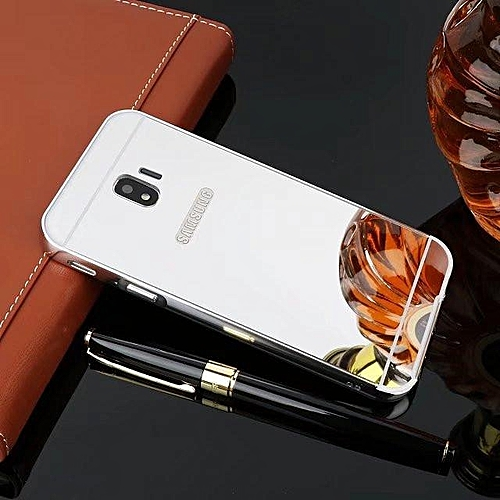 info for e9316 06508 Metal Frame Mirror PC Back Cover For Samsung Galaxy J2 Pro 2018