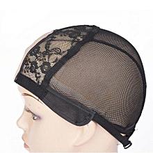 U-Part Black Spandex - Lace Wig Making Cap With Adjustable Straps