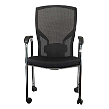 TGS 611 - Low Back Four Legged Meshback Orthopaedic Chair - Black