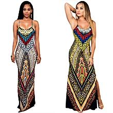 2 in 1 Nigerian Evening Gown Anakara Style Maxi Dresses-Multi