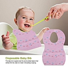 10Pcs Waterproof Disposable Baby Bibs With Large Pocket For Easy Feeding Eating