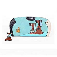 Cute Puppy Stitching Zipper Clutch Wallet Women Wallet