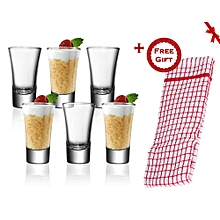 6 Pcs Tot/Shot Glasses (+ Free Gift Hand Towel).