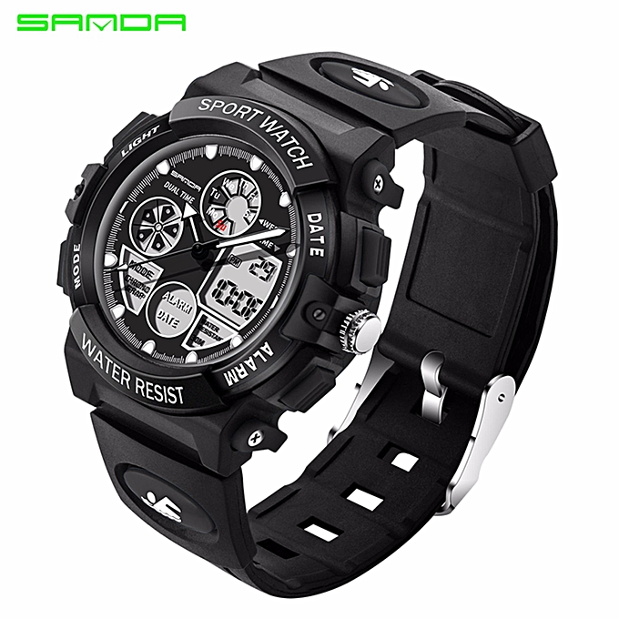 1a095a64de3 SANDA Children Watch Kids Sports Watches LED waterproof Dual Display Watch  Boy Girl Student Multifunctional Digital