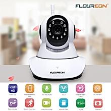 FLOUREON 720P Wifi 1.0 Megapixel Wireless CCTV Security IP Camera US - Black + White