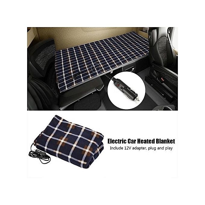 12 Voltage Electric Blanket Folding Portable Travel Car Heating Rug Adjule Temperature