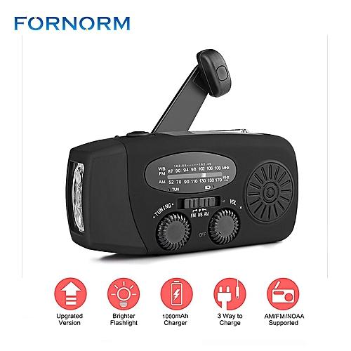 New Portable Solar Radio FM Hand Crank Self Powered Phone Charger 3 LED  Flashlight AM/FM/WB Radio Waterproof Emergency Survival