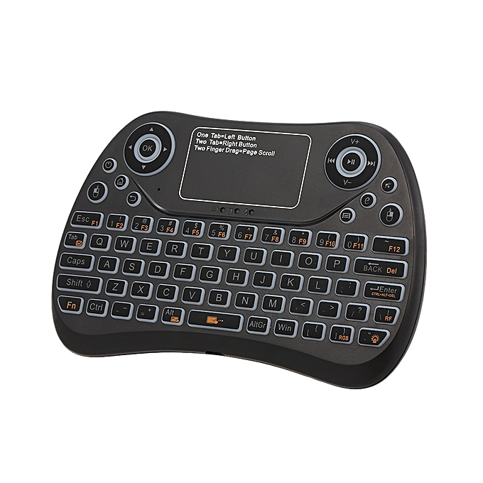 6538d00b8a5 2.4GHz Mini Wireless Keyboard Touch Pad Mouse Combo RGB QWERTY Backlit  Keyboard with Rechargeable Battery