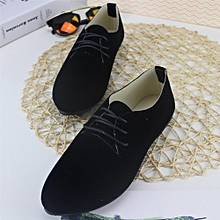 Women casual boyfriend shoes (black)
