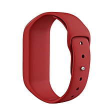 Guoaivo Sport Soft Silicone Wirstband Replacement Strap For Garmin Vivofit 3 Watch -Red