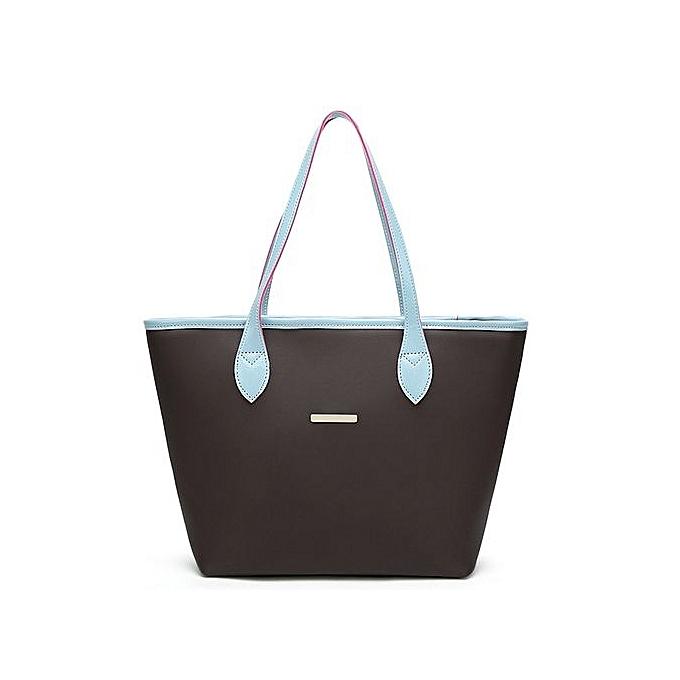 bluerdream-Fashion Women Leather Handbag Shoulder Bag Crossbody Bag Tote  Bag Blue-Blue 613eea7c4bcea