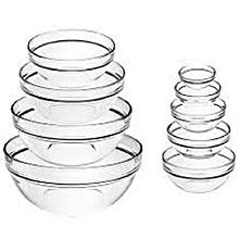 Set of 4 Round Glass Bowls