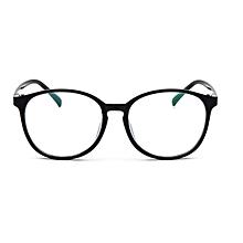 Men Women Clear Plain Lens Oval Plastic Full Frame Glasses Specs Eyeglasses HOT Black