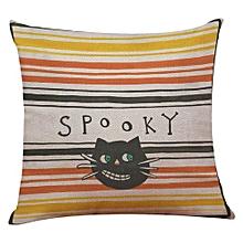 Happy Halloween Linen Throw Pillow Case Cushion Cover Home Sofa Decor New F
