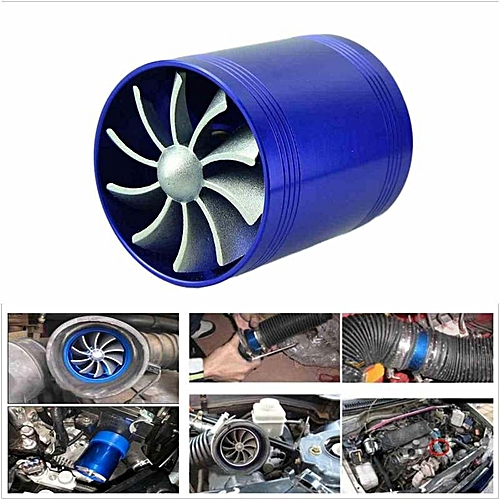 Turbine Parts Blue Turbo Charge Fan Double Turbonator Cold Air Intake Fuel  Saver