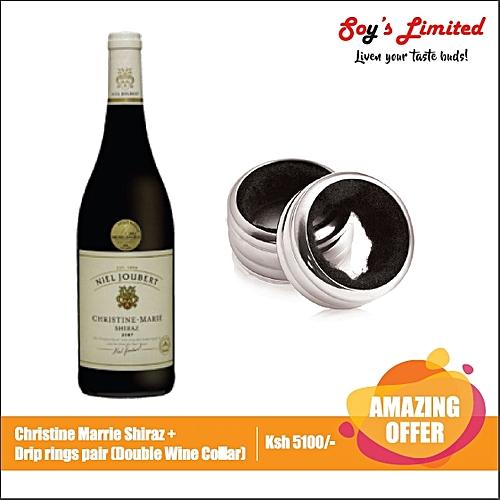 Christine Marie Shiraz + Drip Rings Pair (Double Wine Collar)