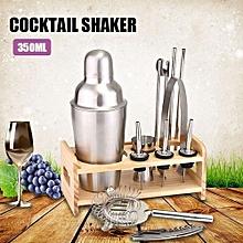 12pc Stainless Steel Cocktail Shaker Mixer Drink Bartender Martini Tools Bar Set Sliver