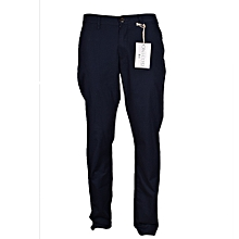 Smart Navy Mens Slim Fit Khaki Trousers - Freestyle Streetwear