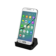 Micro USB Charger Station Cradle Sync Dock For Samsung Galaxy S6 S5 S4 Black