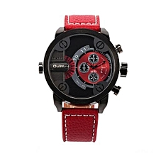 5cm Oversized Dial For Big Wrist Design Brand 3130 Mens Leather Watches Montre Homme Marque Male Relogio Masculino (Red)