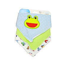 3 pieces Set - Baby Infant Soft Cotton Dribble Bibs ( Bandana bibs) - Blue theme .