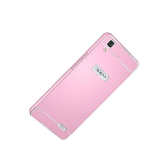 new product 5aa31 9b30d New Arrival For OPPO R7 Case Metal Aluminum Frame + PC Back Cover Phone  Case Cover Coque Funda OPPO R7 R7T R7C(Pink)