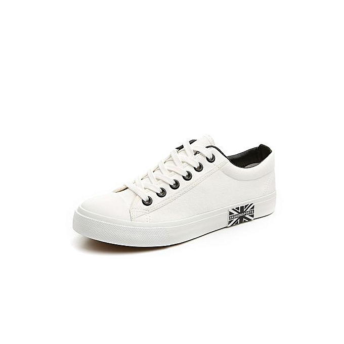 Buy Tauntte Classic Casual Canvas Shoes Breathable Men Shoes White