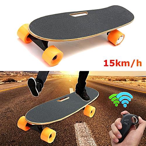 03ed156499a7 Generic New Electric Longboard Skateboard 4 Wheels Wireless Remote Control  Skate Board