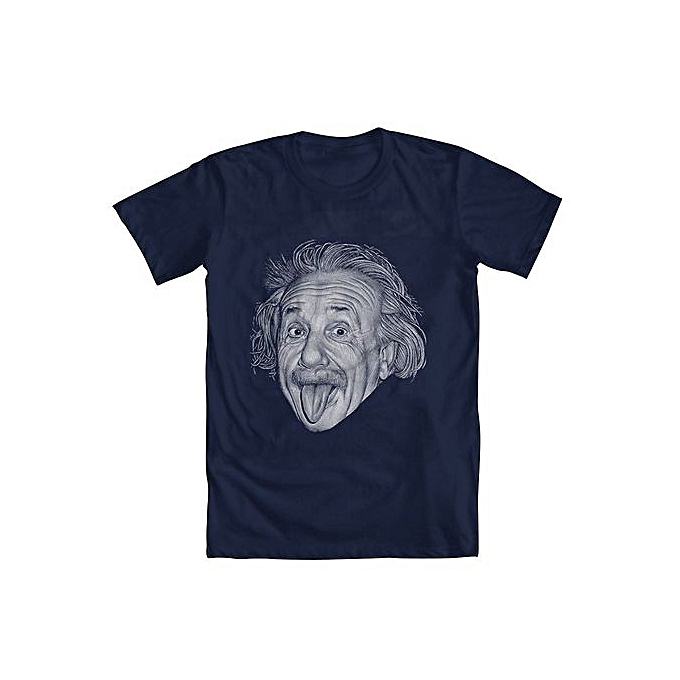 aaa3e1cfdcd Albert Einstein Men s Short Sleeved T-Shirt Cheap Summer Funny Tee Shirts