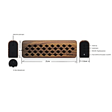 ICOOX Mini Portable Newest Wireless Bluetooth CSR4.1 Stereo Speaker Mic-Brown