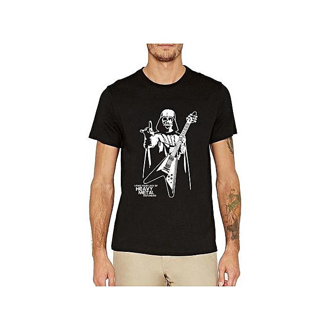4f84f20f Darth Vader Heavy Metal Funny T-Shirt Short Sleeve Men T Shirt Size S-